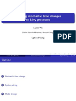 Applying stochastic time changes to Levy processes