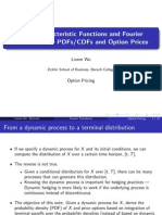 From Characteristic Functions and Fourier