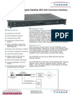 Tiernan TDR 1000 receiver brochure
