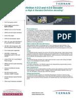 Tiernan HDR4040 data sheet