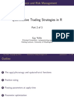 Quantitative Trading Strategies in R