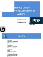 Database Driven 3D Content Management Systems