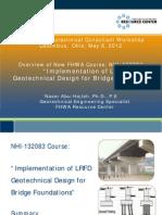 2012 Workshop LRFD Implementation in Geotechnical Design
