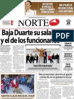 Periodico Norte de Ciudad Juárez 24 de Diciembre de 2012
