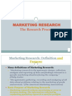 Marketing Research the Research Process