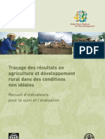 Tracking results in agriculture and rural development in less-than-ideal conditions (in French)