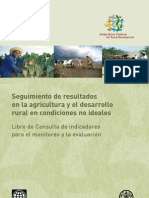Tracking results in agriculture and rural development in less-than-ideal conditions (in Spanish)