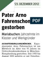 + P. Arno Fahrenschon