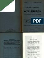 Pilot's Notes - Wellington III, x, Xi, Xii, Xiii, Xiv