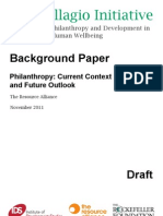 Background Paper:The Future of Philanthropy and Development in the Pursuit of Human Wellbeing