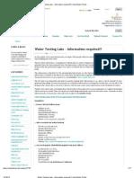 water testing labs list