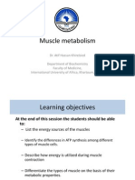 Muscle Metabolism IUA 2013