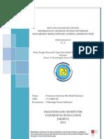Tugas Rencana Manajemen Proyek Sistem Informasi