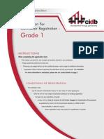 App Form CRSF007 Grade1 Sept2011