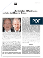 RO(CK)SCHILD E RO(TH)FELLERà- IL MATRIMONIO PERFETTO