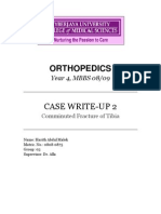 Case report of comminuted tibial shaft fracture