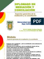 Aspectos generales de la mediación y conciliación