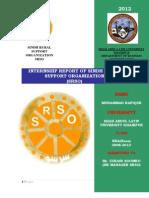 Internship Report of SRSO