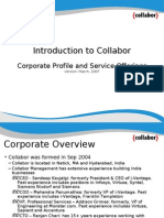 Introduction to Collabor Corporate Profile and Service Offerings Version: