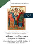 La Grande Loge Maçonnique Française de Tradition