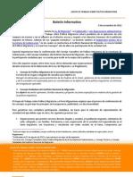 GRUPO DE TRABAJO SOBRE POLÍTICA MIGRATORIA - Boletín Informativo