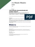 Una Difusion Descentralizada Del Modelo Chileno-Rouviere