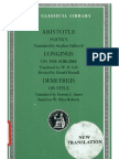 Aristotle, Longinus, Demetrius AristotlePoetics. Longinus on the Sublime Demetrius on Style Loeb Classical Library No. 199 1995