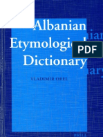 Vladimir Orel, Albanian Etymological Dictionary
