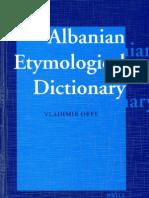 Vladimir Orel, Albanian Etymological Dictionary