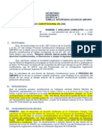 ACCION DE AMPARO CONTRA LEY 29944 MODELO 4