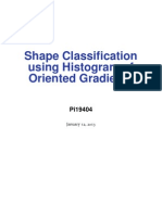 shape classification using Histogram of oriented gradients