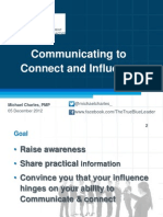 Communicating to Connect & Influence - PMI Presentation Slides