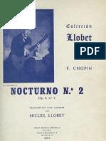 Chopin-Llobet. Nocturno op. 9 nº 2