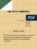 SQL Plus Commands