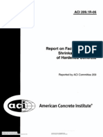 ACI 209.1 (2005) Report FactorsAffect Shrinkage&Creep HardenedConcrete