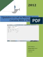 Uputstvo Za MVD1700