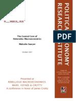 Sawyer The Central Core of heterodox Macroeconomics