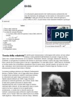 Teoria della relatività - Wikipedia