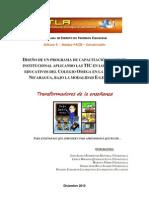 DISEÑO DE UN PROGRAMA DE CAPACITACIÓN DOCENTE INSTITUCIONAL APLICANDO LAS TIC EN LOS PROCESOS EDUCATIVOS DEL COLEGIO OMEGA EN LA CIUDAD DE NICARAGUA, BAJO LA MODALIDAD E-LEARNING