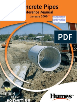 Concrete Pipes Reference Manual | Pipe (Fluid Conveyance