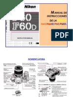 Manual de funcionamiento de la Nikon F60-N60-ES.