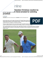 Obama Begins Hawaiian Christmas Vacation by Playing Golf With f