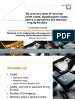 Network Code and Signalling Point code in EU