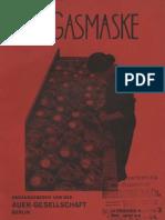 Die Gasmaske 4. Jahrgang Okt. 1932 Heft 5/6 Sonderheft für den Luftschutz
