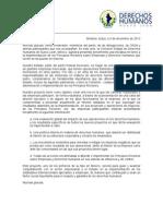 03/12/12 - Mensaje sobre la iniciativa para implementar los principios rectores sobre Empresas y Derechos Humanos