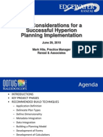 Key Considerations for a Successful Hyperion Planning Implementation