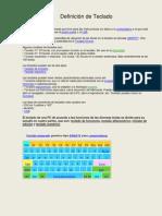 Definición de las partes del Teclado