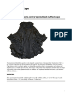 Black Ruffled Cape Original