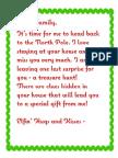 Treasure Hunt Letter