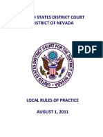 Local Rules of Practice August 2011